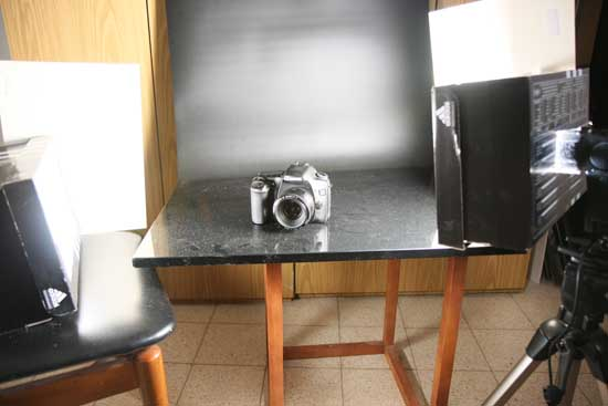 second product photography setup